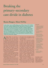 Breaking the primary–secondary care divide in diabetes - Journal of ...