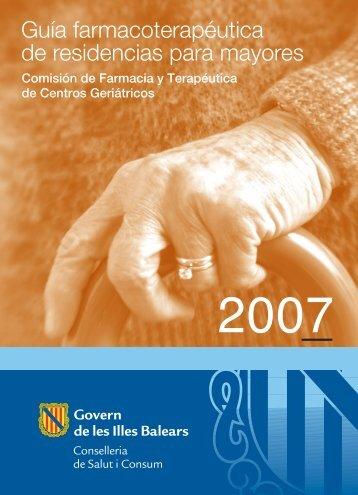 Guía farmacoterapéutica de residencias para mayores