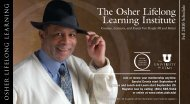 The Osher Lifelong Learning Institute - Continuing Education at the ...