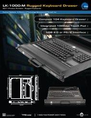 LK-1000-M Rugged Keyboard Drawer - TAG.com