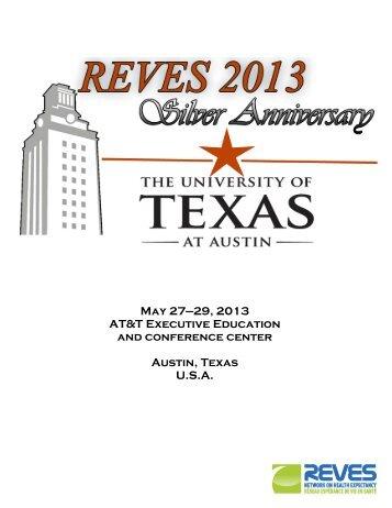 2013 REVES Full Program Complete - University Blog Service - The ...
