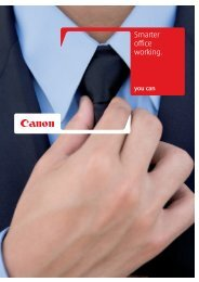 Smarter office working [PDF, 4 MB] - Canon Europe