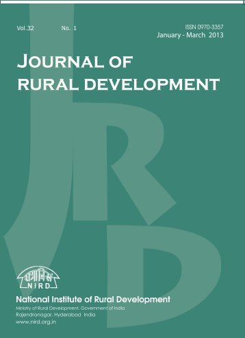 January - March 2013 - National Institute of Rural Development