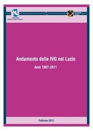 Andamento delle IVG nel Lazio - Agenzia di Sanità Pubblica della ...