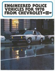 1978 Chevrolet Police Vehicles Brochure