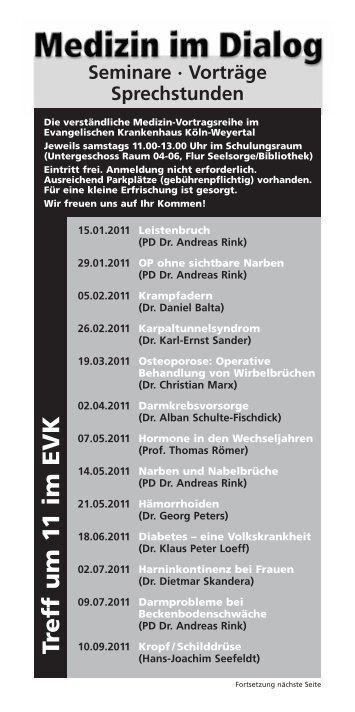 Treff um 11 im EVK - Evangelisches Krankenhaus Köln-Weyertal