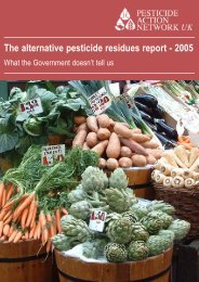 The alternative pesticide residues report - Pesticide Action Network UK