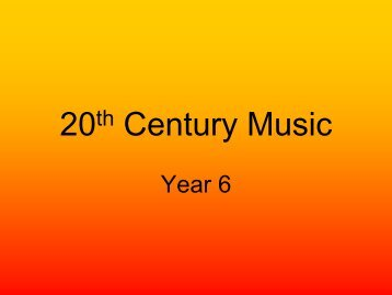 you need to know about 20th Century music