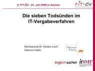 Die sieben Todsünden im IT-Vergabeverfahren ... - FIT-öV