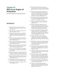 Chapter 47 Skin as an Organ of Protection