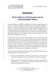 Manifiesto 29 de Febrero. Día Europeo de las Enfermedades Raras