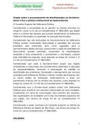 SUBOUVIDORIAS Proposta de nova Deliberação ... - Defensoria
