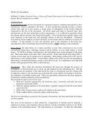 Notes on Sonata Form - William Caplin