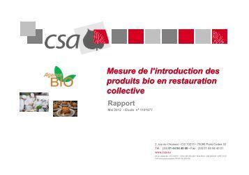 Baromètre consommation en restauration collective - A PRO BIO