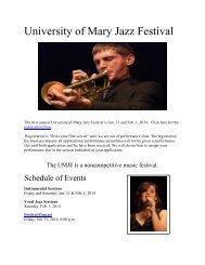 University of Mary Jazz Festival