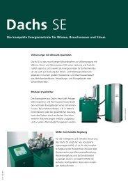 Dachs SE - SenerTec Center Sachsen