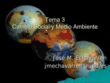 Tema 3 Cambio Social y Medio Ambiente