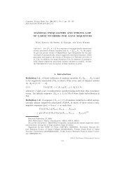 MAXIMAL INEQUALITIES AND STRONG LAW OF LARGE ...