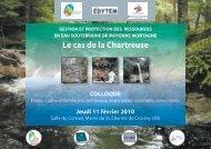 colloque - Edytem - Université de Savoie