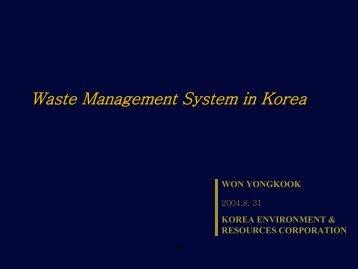 Waste Management System in Korea
