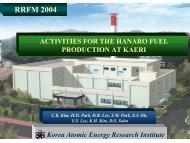 Activities for the HANARO Fuel Production at KAERI