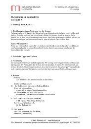 16. Sonntag im Jahreskreis Lesejahr A - Katholisches Bibelwerk