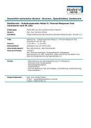 Geothermie - Erdwärmesonden Modul 5: Thermal-Response-Test ...