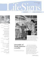 LifeSigns, Mar-Apr 2012 - Sisters of the Holy Cross