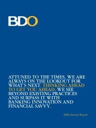 2008 BDO Annual Report Description : Thinking Ahead To Get You ...