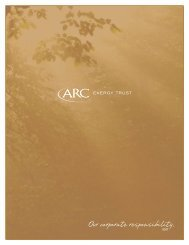 Our corporate responsibility. - ARC Resources Ltd.