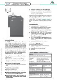 technisches Datenblatt Dachs Modem - SENERTEC - Service