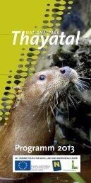 Programm 2013 [PDF] - Nationalparks Austria