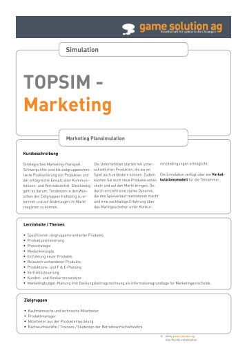 topsim report Topsim management challenge 159 and you don't have a team report to us we run a database of people who are willing to participate in a competition without.