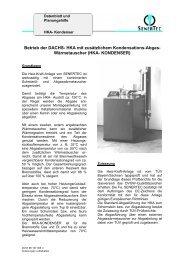 Betrieb der DACHS- HKA mit zusätzlichem Kondensations-Abgas ...