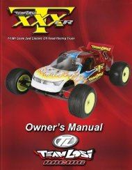 XXX-T CR Instruction Manual Part 1 - Team Losi Racing