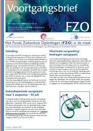 Voortgangsbrief FZO nr 1 - NFU
