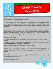 GPMS January Newsletter - Gilbert Paterson Community School