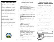 Patron Code of Conduct - City of Las Vegas, New