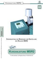 Kurzanleitung Dachs MSR 2 - SENERTEC - Service