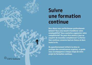 Suivre une formation continue [PDF] - Berufsberatung.ch