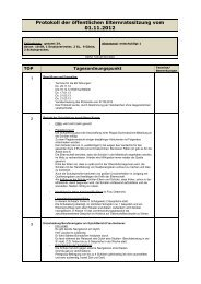 Protokoll der öffentlichen Elternratssitzung vom 01.11.2012