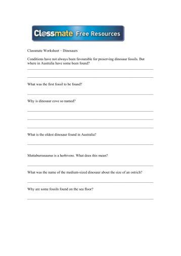 Dexter's Dinosaurs worksheets