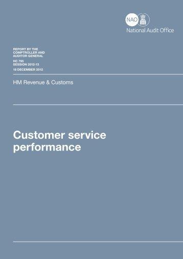 HMRC customer service performance - Taxation