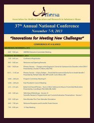 2013 Conference at a Glance - AMERSA