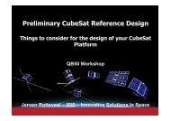 Reference 2U-CubeSat Design - QB50