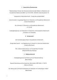 1. Gewerblicher Rechtsschutz Patentrechtliche Grenzen des ...