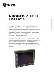 "RUGGED VEHICLE DISPLAY 10"" - Saab"