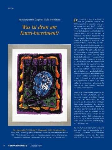 Was ist dran am Kunst-Investment? - Art Investment