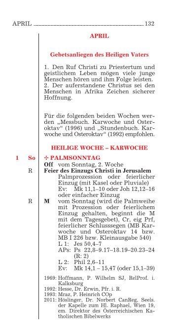 APRIL Gebetsanliegen des Heiligen Vaters 1. Den Ruf Christi zu ...