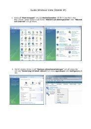 Inställningar Vista - Fast IP - Net at Once